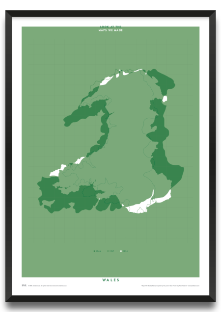 Maps We Made (Wales) framed print