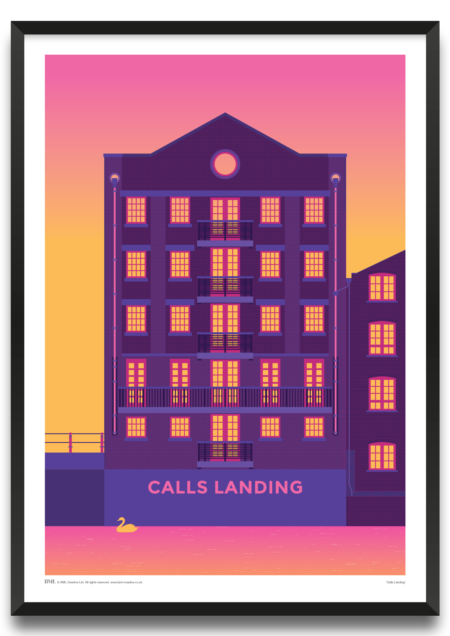 Calls Landing, Leeds art print by James Lodge, Prints for Charity