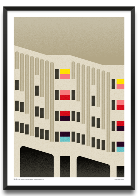 Roger Stevens Building Art Print by Prints for Charity