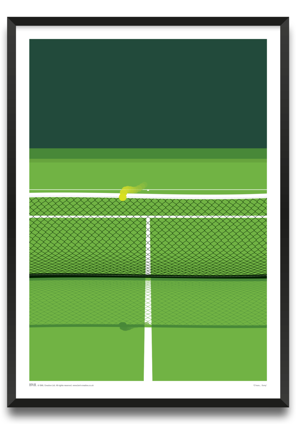 C'mon, Sorry, Tennis art print by Andy Kay, Prints for Charity