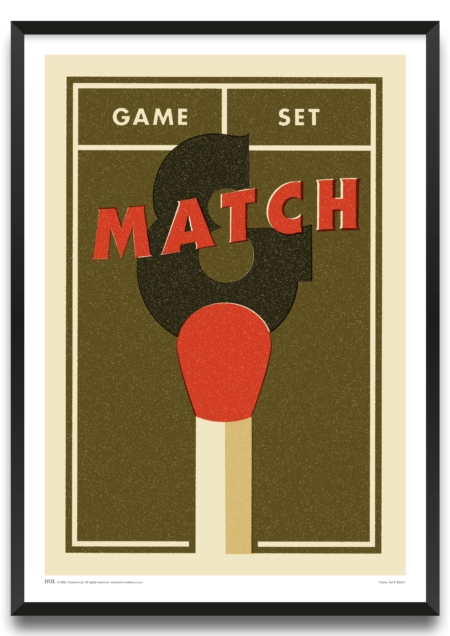 Game Set & Match framed print