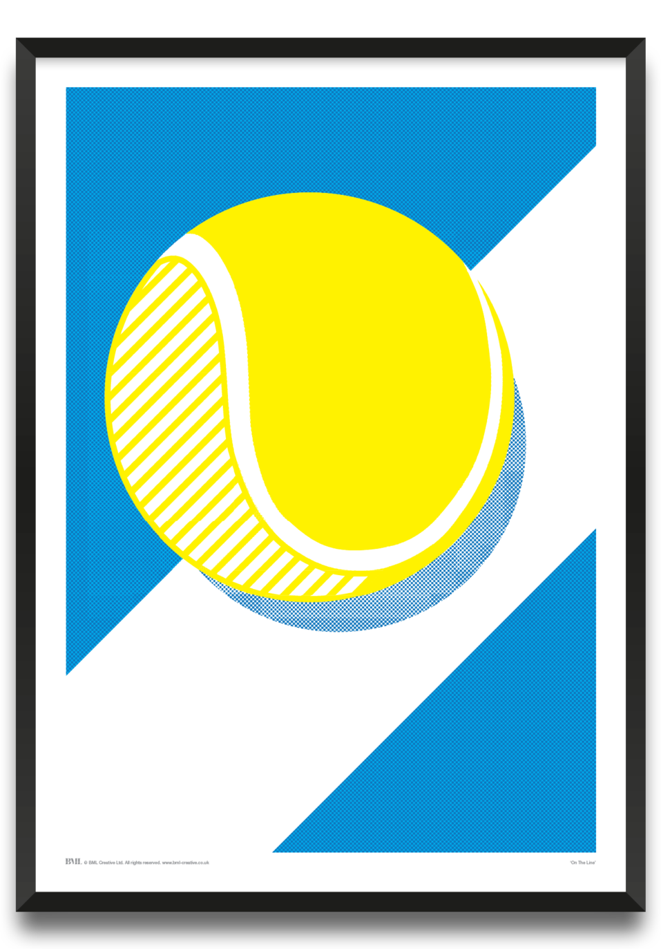 On The Line, tennis screenprint by Dave Holloway, Prints for Charity