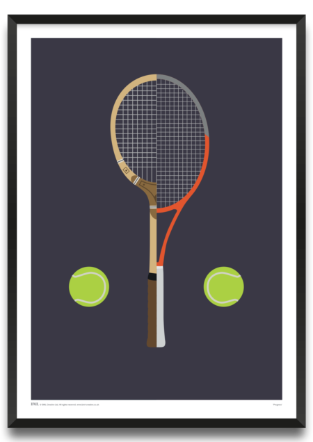 Progress, tennis art print by Rik Kendell, Prints for Charity