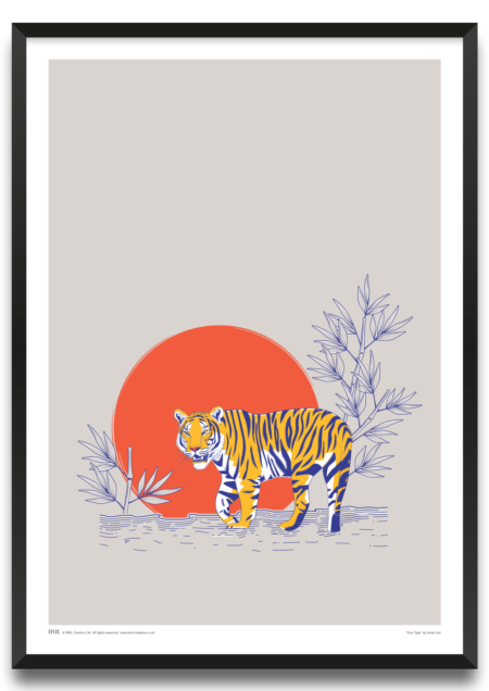 True Tiger art print by Andy Kay, Prints for Charity