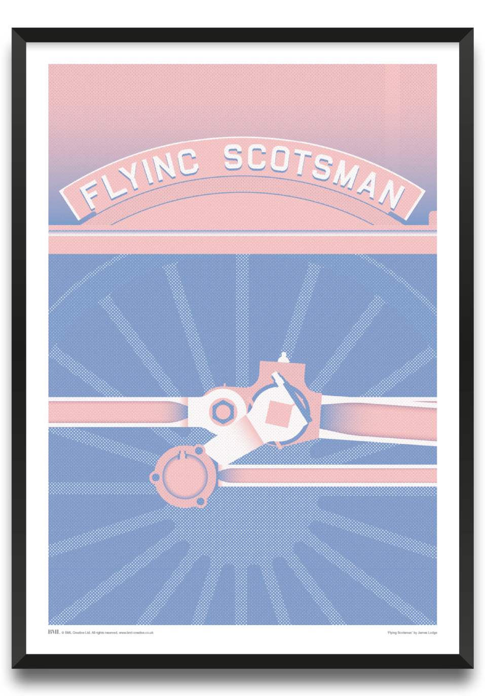 Flying Scotsman, train art print by James Lodge, Prints for Charity