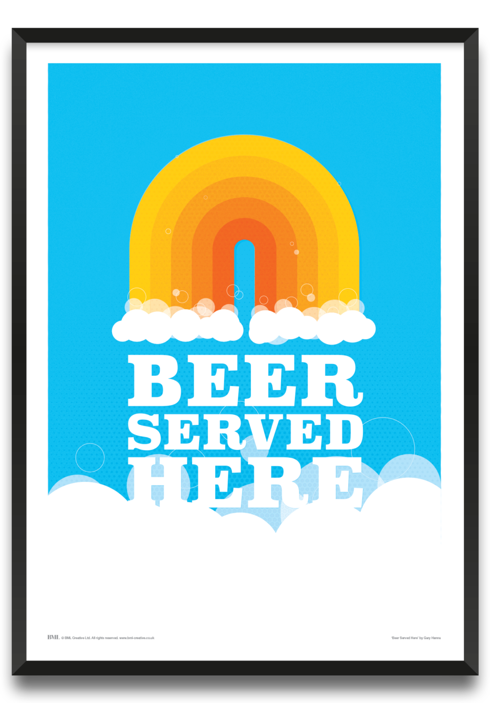 Beer Served Here framed print