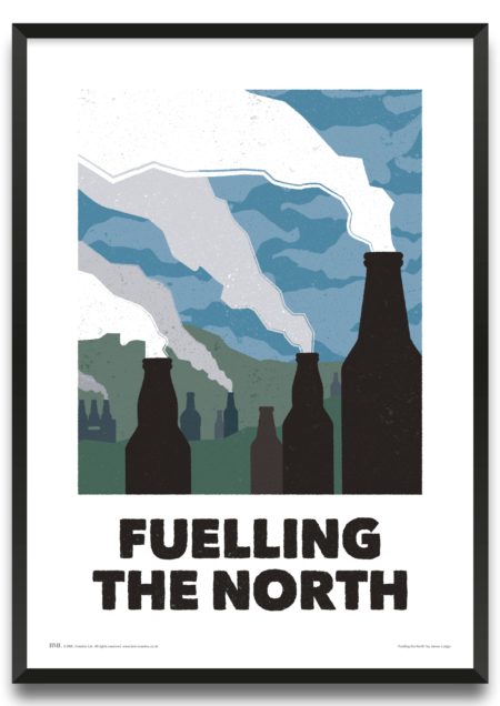 Fuelling the North framed print