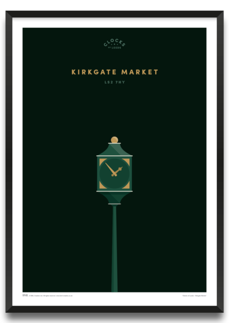 Kirkgate Market, clocks of Leeds art print by Prints For Charity