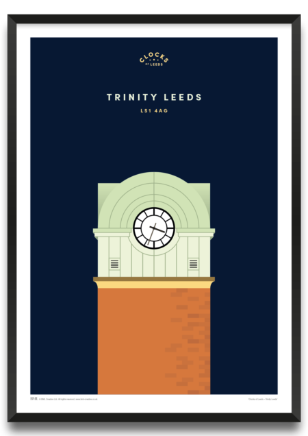 Trinity, clocks of Leeds art print by Prints For Charity