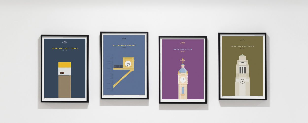Prints for Charity Clocks of Leeds Print series by BML