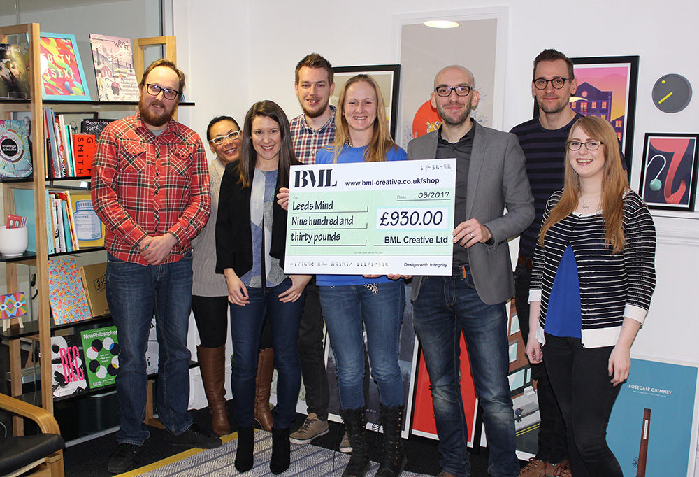 BML team make a charity donation to Leeds Mind