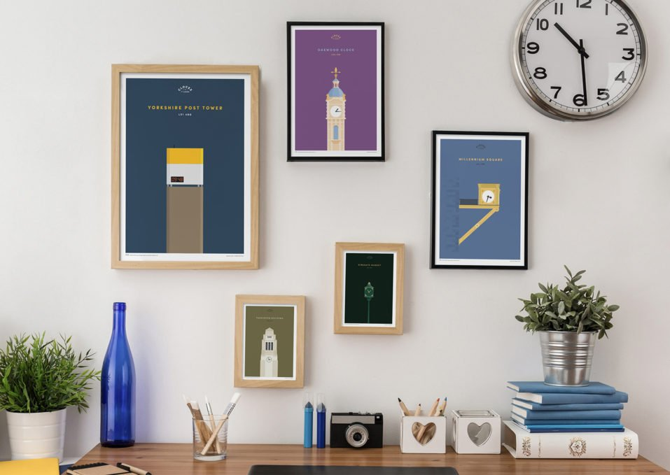 Prints for Charity Clocks of Leeds Print series wall art by BML